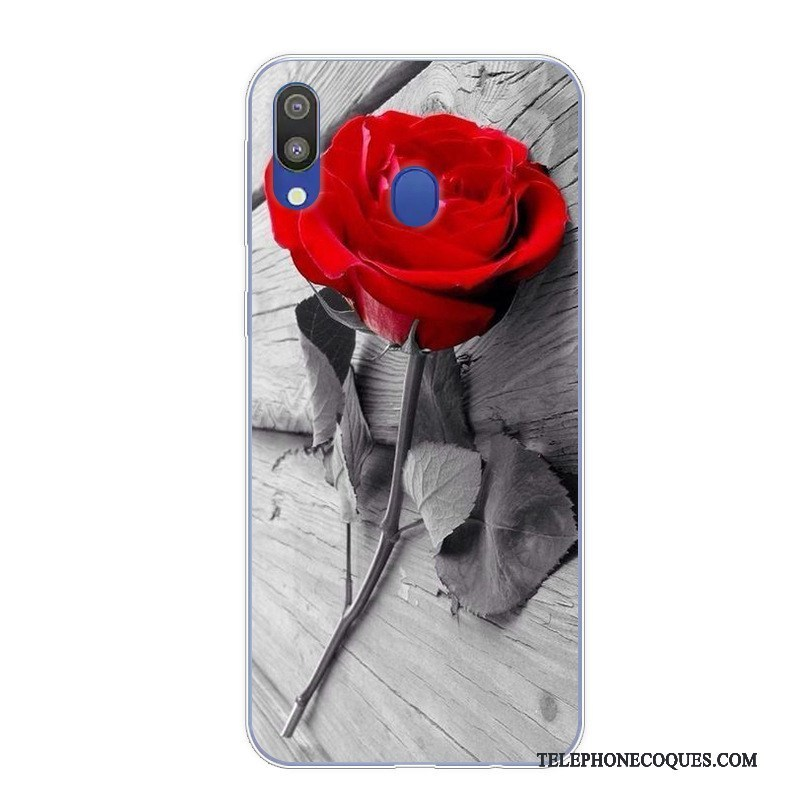 Coque Pour Samsung Galaxy M20 Protection Incassable Dessin Animé Vintage Art De Téléphone