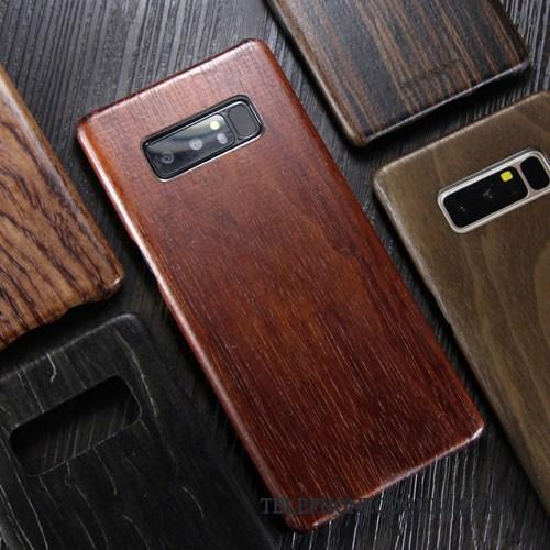 Coque Pour Samsung Galaxy Note 8 En Bois Étui Bois Massif Clair Très Mince Étoile