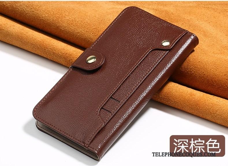 Coque Pour Samsung Galaxy Note 8 Incassable Tout Compris Luxe De Téléphone Cuir Véritable Clamshell