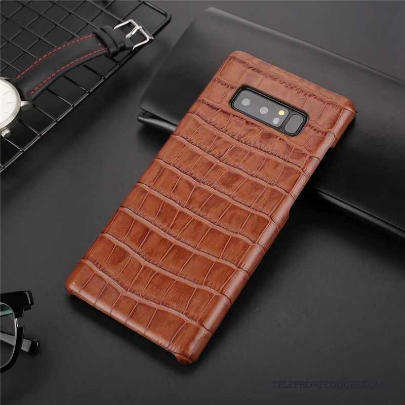 Coque Pour Samsung Galaxy Note 8 Téléphone Portable Nouveau Étui Protection Incassable Vin Rouge