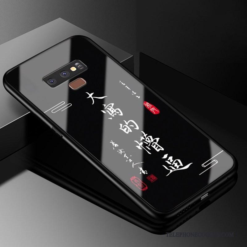 Coque Pour Samsung Galaxy Note 9 Simple Personnalité Protection Noir Incassable Créatif