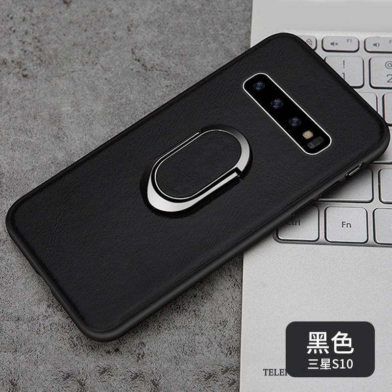 Coque Pour Samsung Galaxy S10 De Téléphone Anneau Magnétisme Business Protection Support