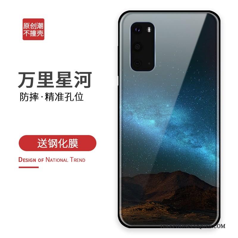 Coque Pour Samsung Galaxy S20 Bleu Silicone Créatif Incassable De Téléphone Sac