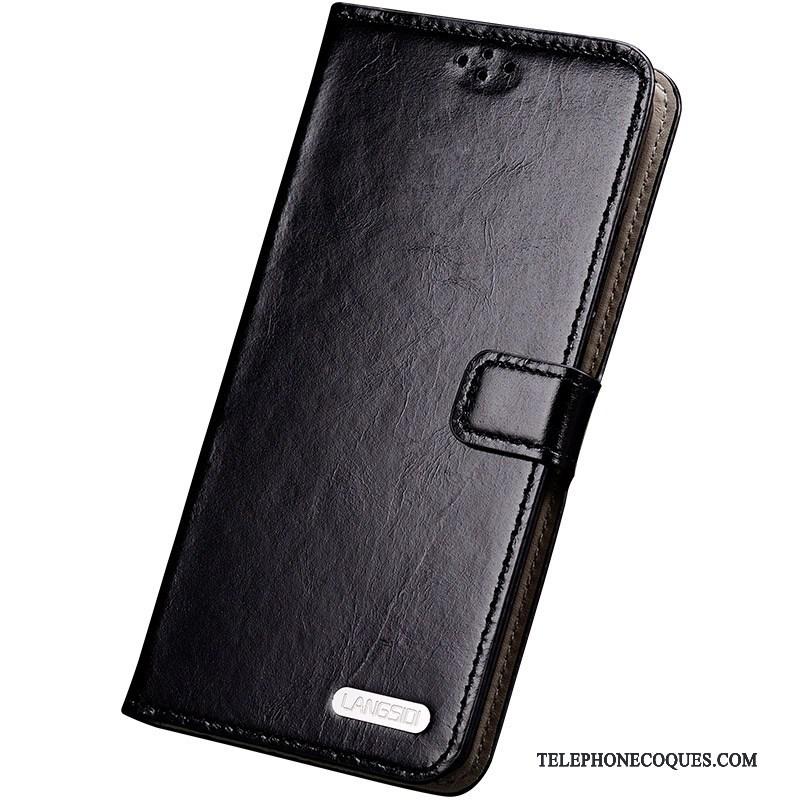 Coque Pour Samsung Galaxy S6 Edge + Bleu Protection Étui Cuir Véritable De Téléphone Étui En Cuir