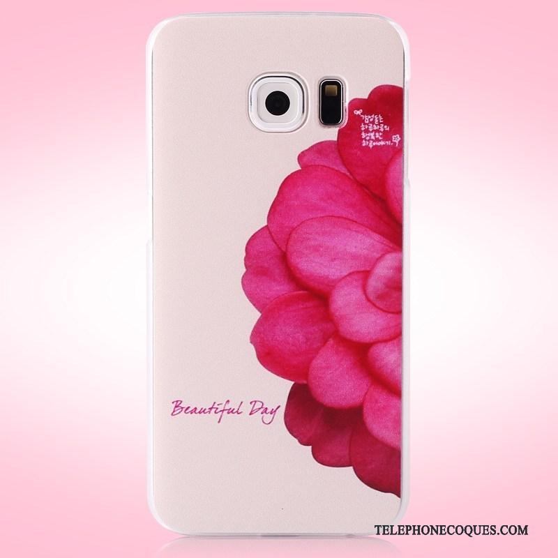 Coque Pour Samsung Galaxy S6 Edge Difficile Téléphone Portable Étoile Peinture Étui