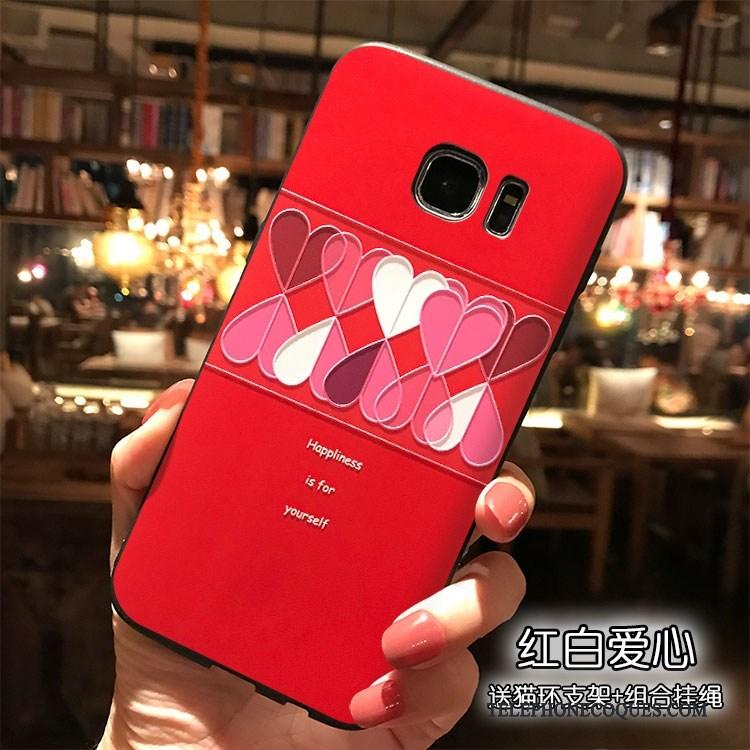 Coque Pour Samsung Galaxy S7 De Téléphone Tout Compris Étui Personnalité Tendance Fluide Doux