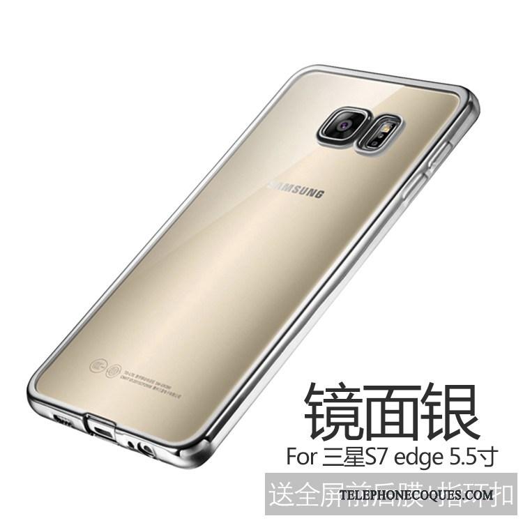 Coque Pour Samsung Galaxy S7 Edge Incassable Or De Téléphone Protection Très Mince Étoile
