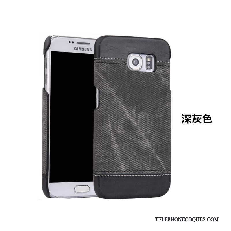 purchase cheap elegant shoes innovative design Coque Pour Samsung Galaxy S7 Edge Légère Protection Cuir Véritable Étui De  Téléphone Incassable