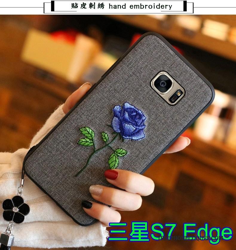 Coque Pour Samsung Galaxy S7 Edge Tout Compris Tendance Étui Protection Fluide Doux Étoile