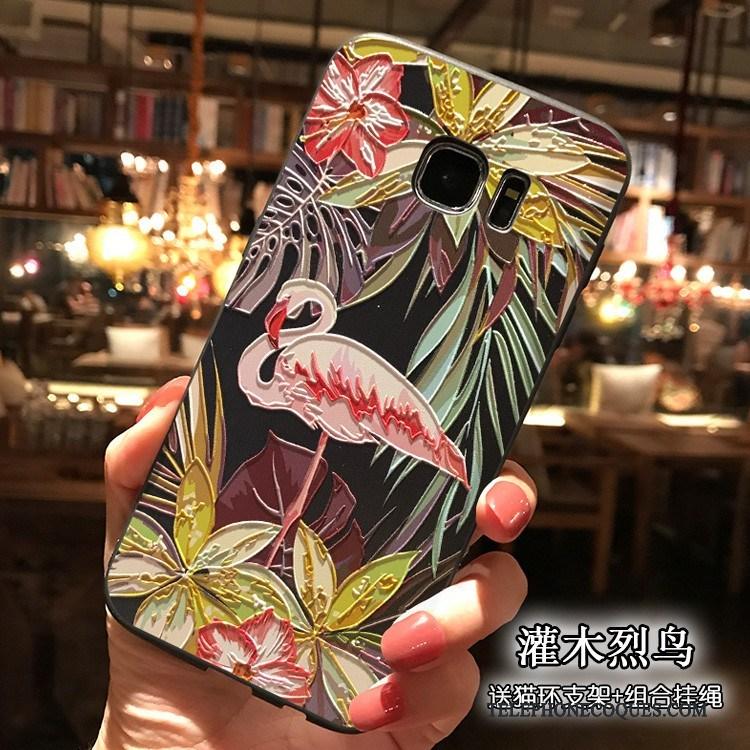 Coque Pour Samsung Galaxy S7 Multicolore Silicone Tout Compris De Téléphone Étoile