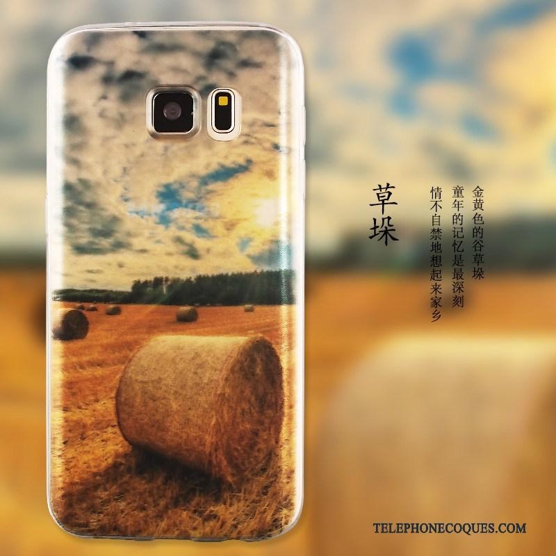 Coque Pour Samsung Galaxy S7 Silicone Téléphone Portable Étui Protection Multicolore