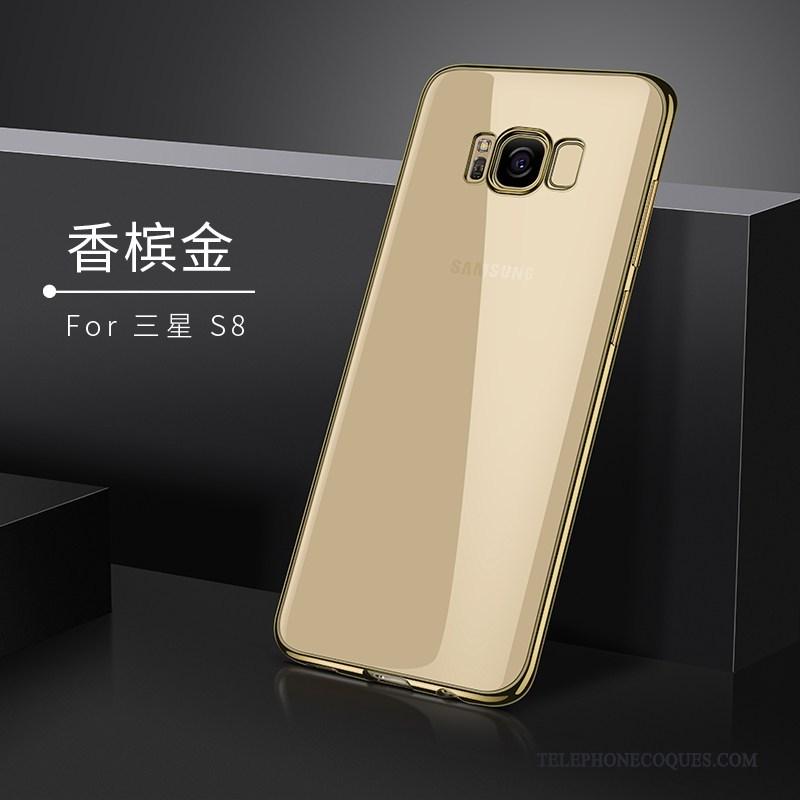 Coque Pour Samsung Galaxy S8 Silicone Étui Or De Téléphone Étoile Tendance
