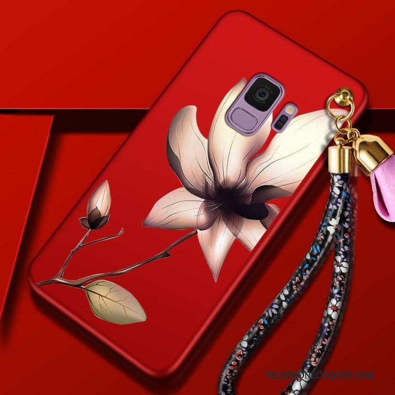 Coque Pour Samsung Galaxy S9 Fluide Doux Étoile De Téléphone Étui Fleur