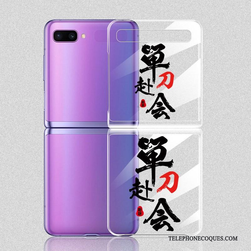 Coque Pour Samsung Z Flip Mode Net Rouge Nouveau Personnalité Incassable Étui