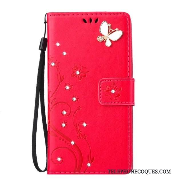 Coque Pour Sony Xperia 10 Plus Étui En Cuir Tout Compris Rouge Housse Très Mince Téléphone Portable