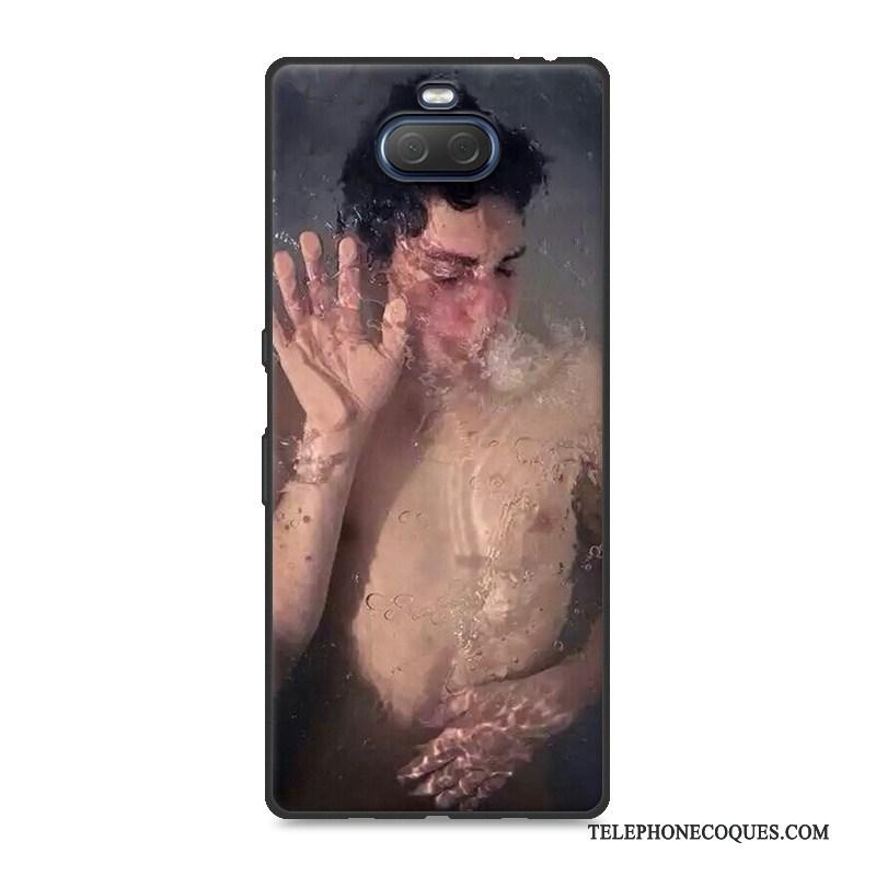 Coque Pour Sony Xperia 10 Rose Silicone Étui Simple Fluide Doux Net Rouge