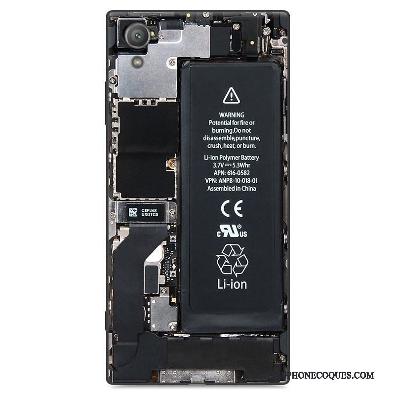 Coque Pour Sony Xperia Xa1 Plus Incassable Noir Étui Protection Silicone Tout Compris