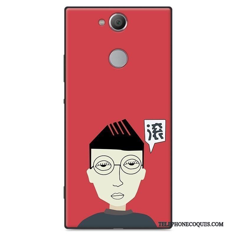 Coque Pour Sony Xperia Xa2 Délavé En Daim Étui Fluide Doux Personnalité Tout Compris