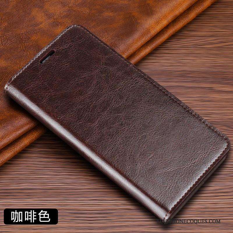 Coque Pour Xiaomi Mi 10 Étui En Cuir Petit Housse Rouge De Téléphone Plier