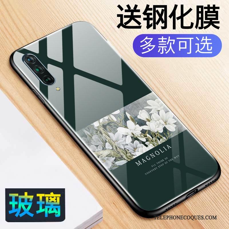 Coque Pour Xiaomi Mi 9 Bleu Vent Personnalité Petit Fleur Peinture