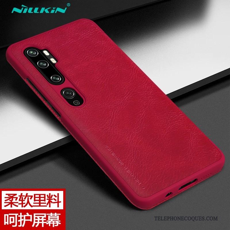 Coque Pour Xiaomi Mi Note 10 Or Protection Étui En Cuir Business Petit De Téléphone