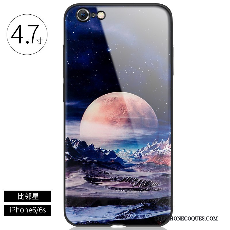 Coque Pour iPhone 6/6s Protection Marque De Tendance De Téléphone Étui Personnalité Verre