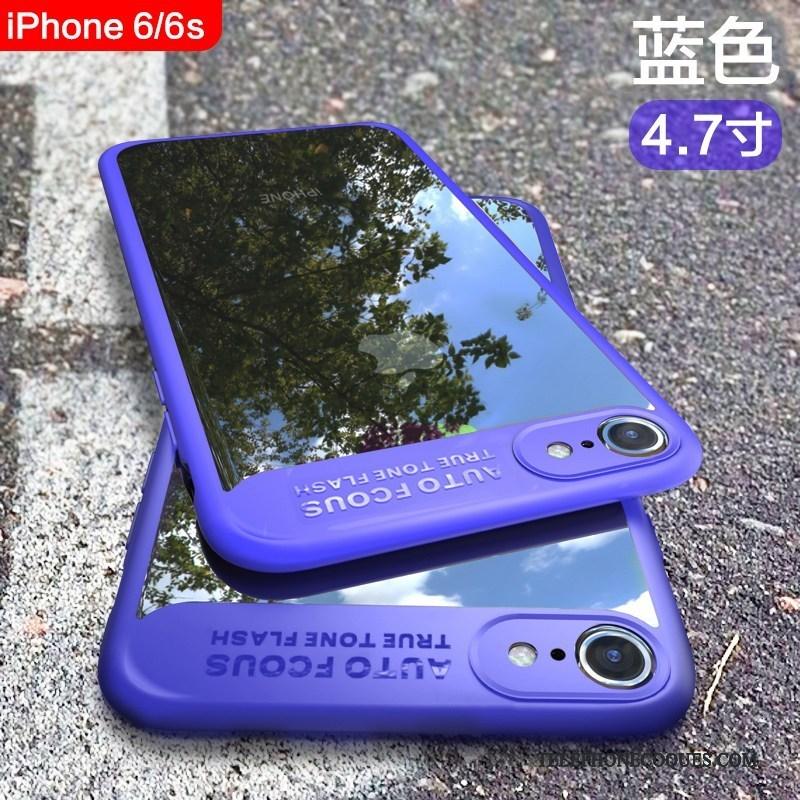Coque Pour iPhone 6/6s Tout Compris Délavé En Daim De Téléphone Fluide Doux Transparent Silicone