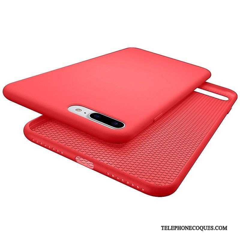 Coque Pour iPhone 7 Plus Silicone De Téléphone Étui Fluide Doux Rouge Incassable