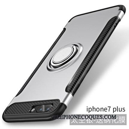 Coque Pour iPhone 7 Plus Tout Compris Incassable Personnalité Nouveau Bleu Anneau