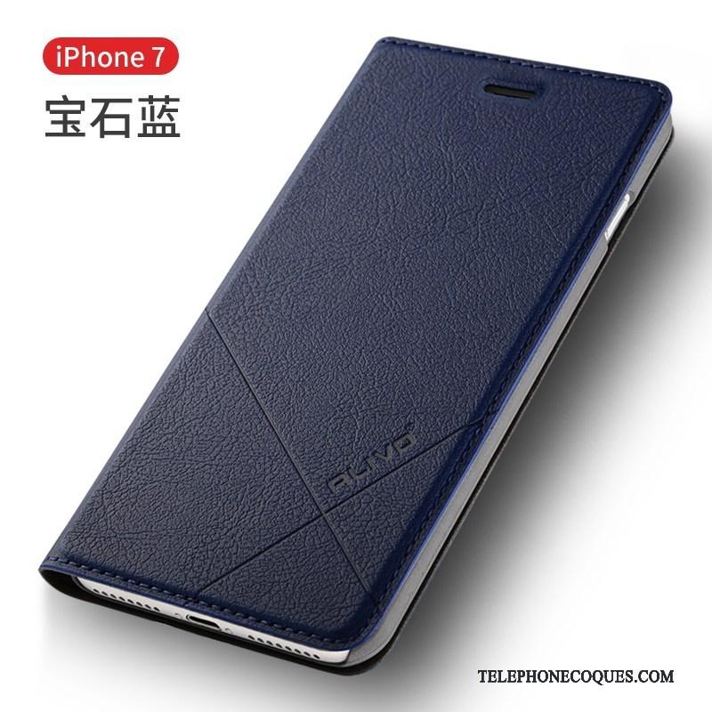 Coque Pour iPhone 7 Protection Housse Étui De Téléphone Incassable Bleu