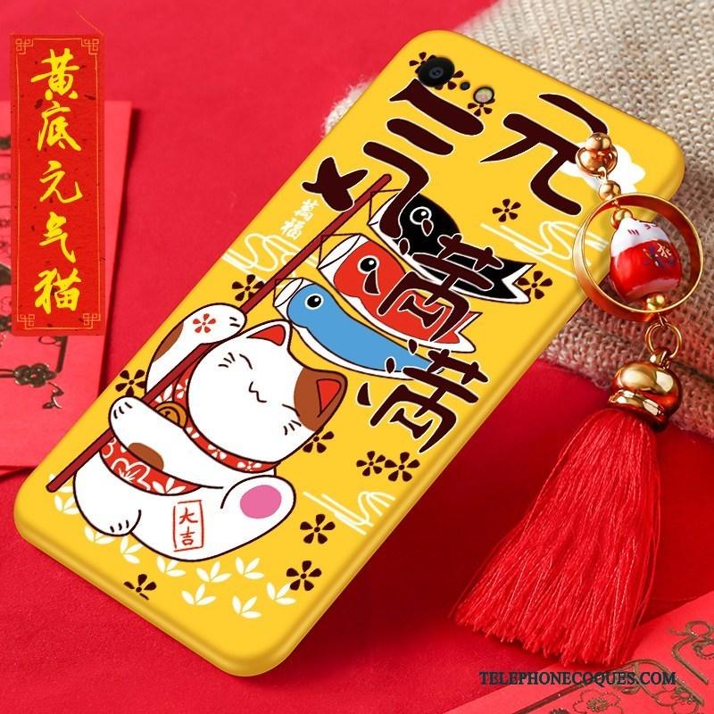 Coque Pour iPhone 8 Dessin Animé Nouveau Incassable Rouge Fluide Doux De Téléphone