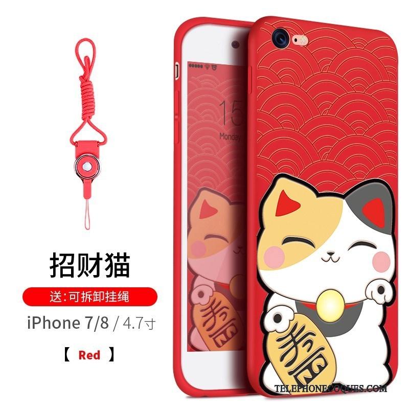 coque iphone 8 plus silicone chat