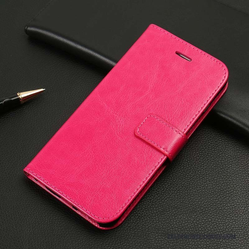 Coque Pour iPhone 8 Plus Tout Compris Étui En Cuir Noir Protection De Téléphone