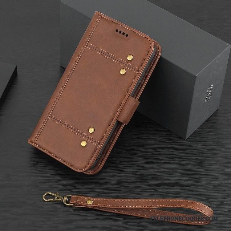Coque Pour iPhone X Étui En Cuir Protection Business Tout Compris Téléphone Portable