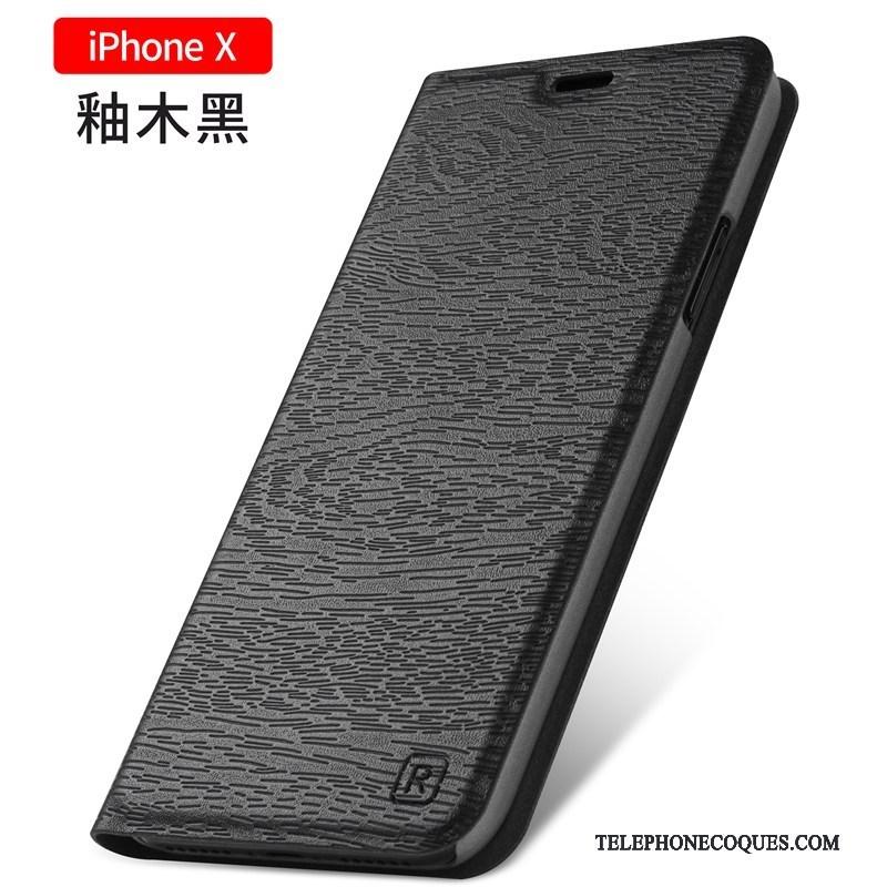Coque Pour iPhone X Incassable Tout Compris Nouveau Étui Clamshell Étui En Cuir