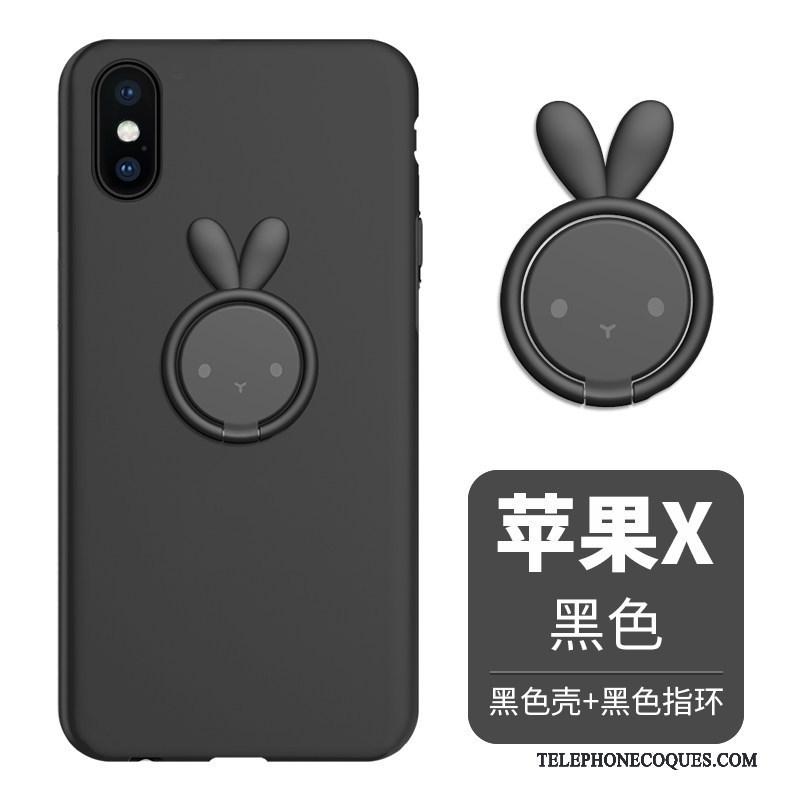 Coque Pour iPhone X Support Étui Fluide Doux Silicone Incassable De Téléphone