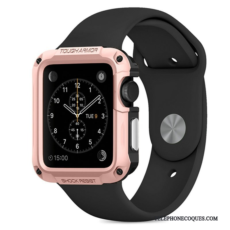 Coque Pour Apple Watch Series 2 Étui Sport Outdoor Protection Or Rose