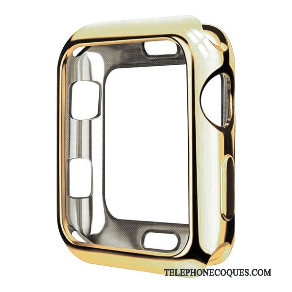 Coque Pour Apple Watch Series 2 Étui Très Mince Transparent Protection Placage Fluide Doux
