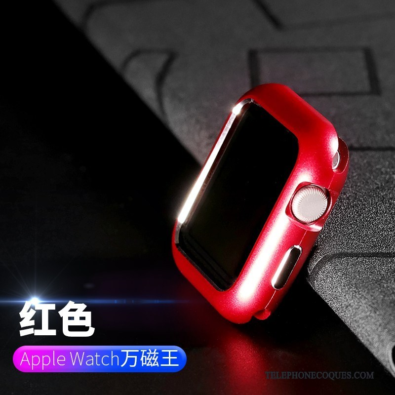 Coque Pour Apple Watch Series 2 Métal Étui Rouge Incassable Placage Protection