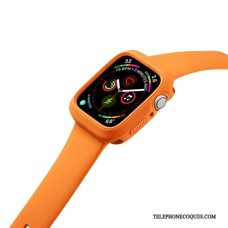 Coque Pour Apple Watch Series 2 Sport Silicone Orange Incassable