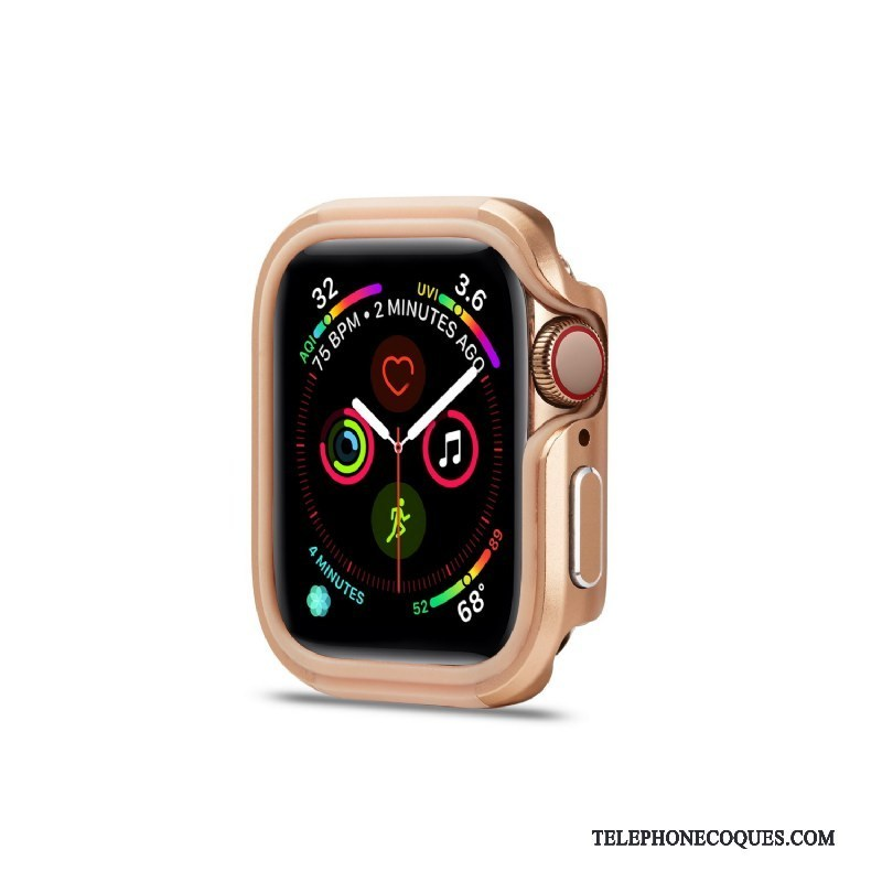 Coque Pour Apple Watch Series 3 Métal Or Rose Alliage Protection Pu