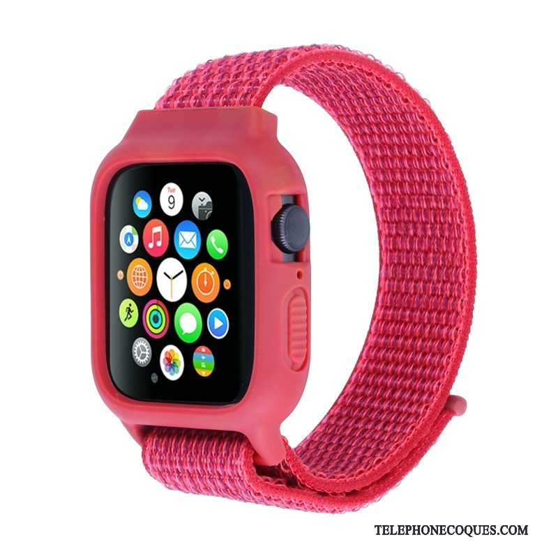 Coque Pour Apple Watch Series 3 Rouge Protection Nylon