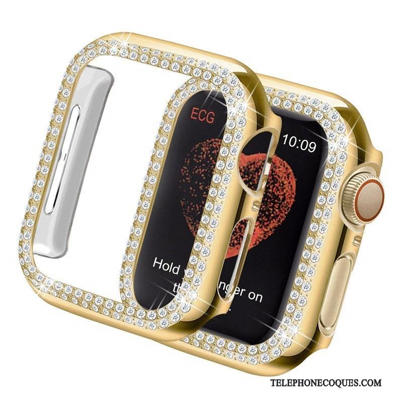 Coque Pour Apple Watch Series 5 Placage Tendance Or Protection Légères
