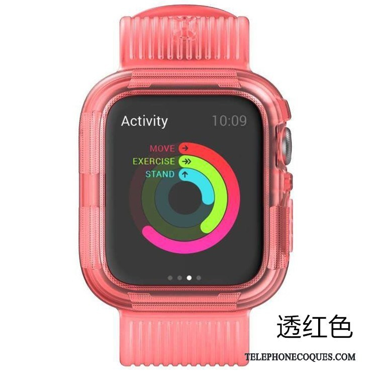 Coque Pour Apple Watch Series 5 Rose Incassable Protection Sport Armure
