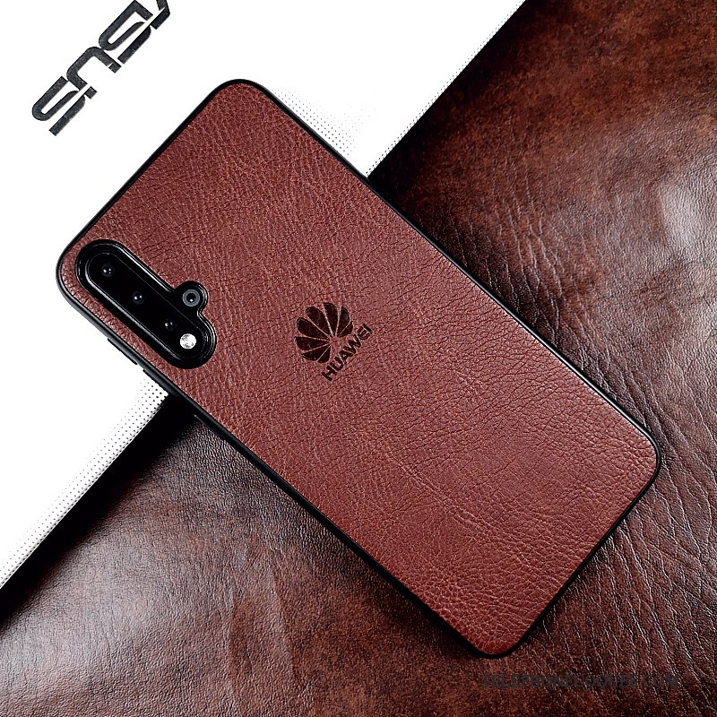 Coque Pour Honor 20 Étui En Cuir Protection Cuir Véritable Business Incassable