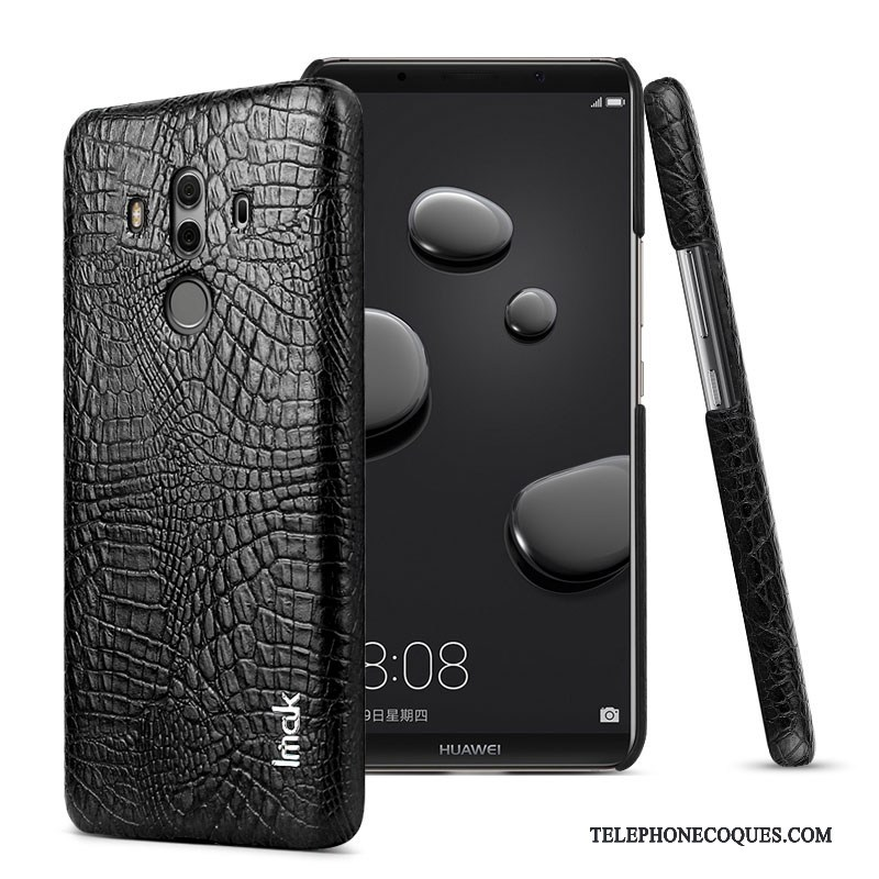 Coque Pour Huawei Mate 10 Pro Étui Protection Business Noir Étui En Cuir Simple