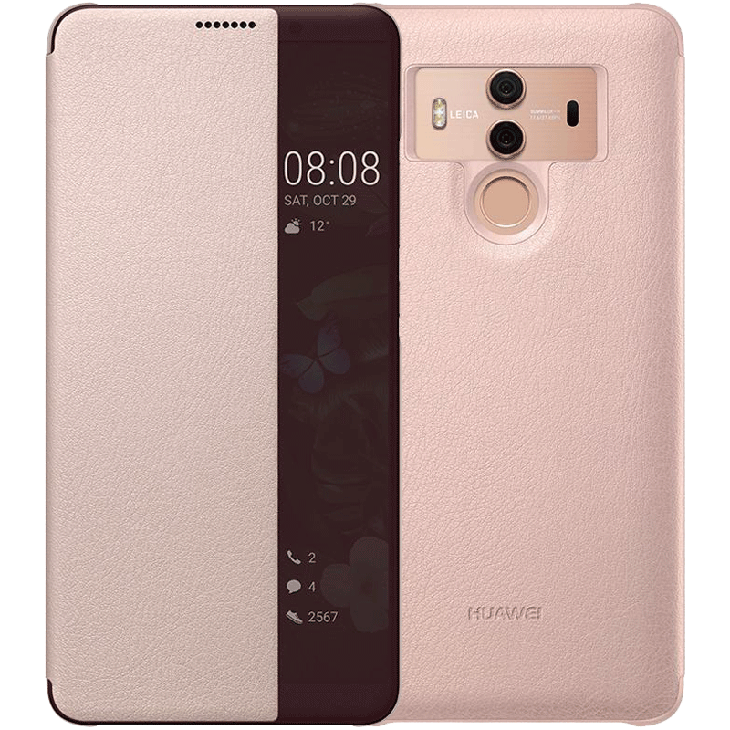 Coque Pour Huawei Mate 10 Pro Protection Étui En Cuir Windows Rose