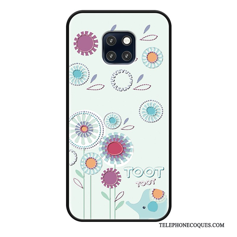 Coque Pour Huawei Mate 20 Rs Étui Protection Simple Charmant Bleu Chat