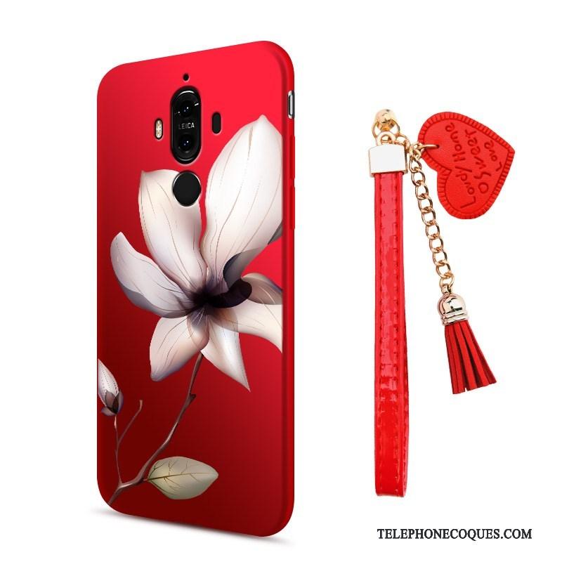 Coque Pour Huawei Mate 9 Étui De Téléphone Incassable Silicone Rouge Protection