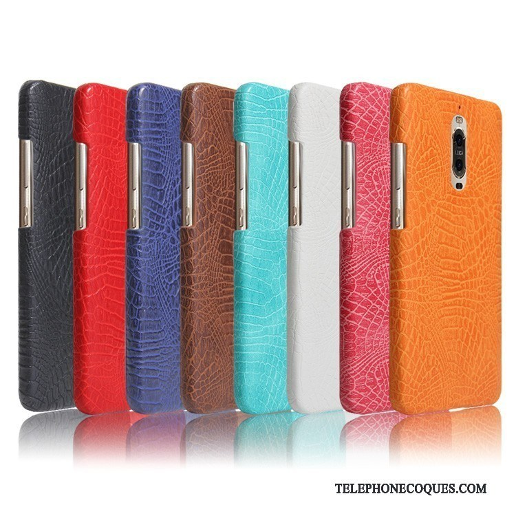 Coque Pour Huawei Mate 9 Pro De Téléphone Protection Multicolore Étui En Cuir Crocodile